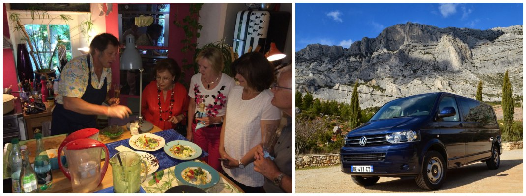 Cooking classes, history tours, city tours, active touring in Marseille, Cannes, Nice, St Tropez and Monaco