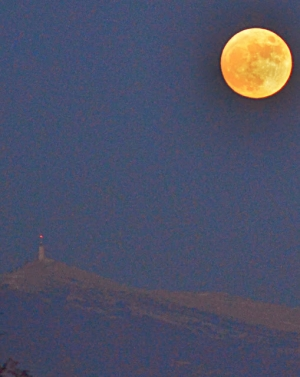 Moonrise and the Mont Ventoux- Photo of the Day